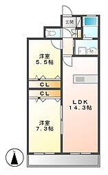 SOARII[3階]の間取り