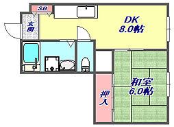 マンション板倉[3階]の間取り