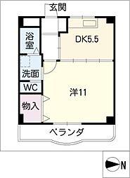 クレール正木[3階]の間取り