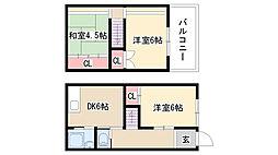 [テラスハウス] 愛知県名古屋市緑区相原郷2丁目 の賃貸【/】の間取り