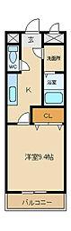兵庫県姫路市飾磨区上野田3丁目の賃貸マンションの間取り