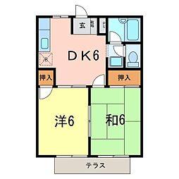 コーポ稲垣[101号室]の間取り