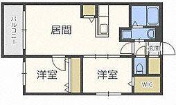 レジーナN22[5階]の間取り