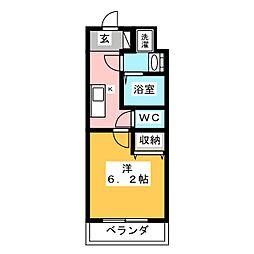 KNOTS SAKURADAI Sta 3階1Kの間取り
