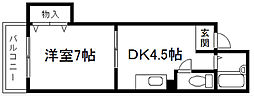 ミヤギマンション[202号室]の間取り