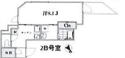 東京都渋谷区初台1丁目の賃貸マンションの間取り