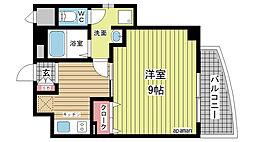 アクアプレイス新神戸駅前[203号室]の間取り