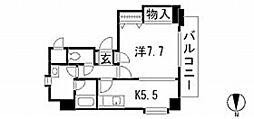 広島県広島市中区堺町1丁目の賃貸マンションの間取り