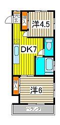 サンハイツ福田[2階]の間取り