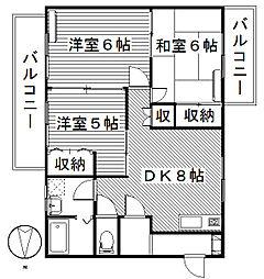 ヴィラコンフォール[2階]の間取り