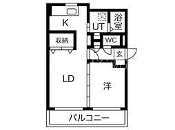 北海道札幌市北区太平八条7丁目の賃貸マンションの間取り