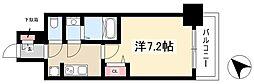 ADVANCE NAGOYA MOXIE 2階1Kの間取り