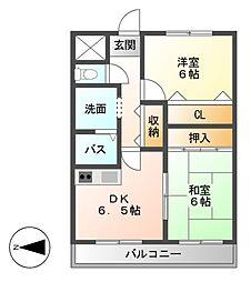 プラスオーツービル[5階]の間取り