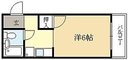 コーポ桐生[1階]の間取り