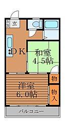 井草関口マンション[6階]の間取り