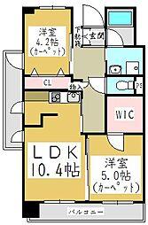 ポムダムール[3階]の間取り