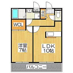 京都府京都市伏見区羽束師古川町の賃貸アパートの間取り