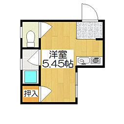 マオカハイツ[4階]の間取り