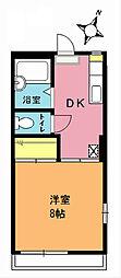ドミールYK[102号室]の間取り