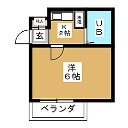 ラフォーレ姫池[6階]の間取り