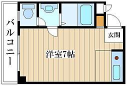 サンライズ姫島[4階]の間取り