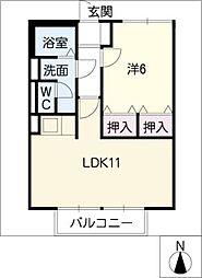 スミカB棟[2階]の間取り