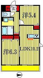 べレオ南海神[1階]の間取り