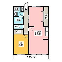 アソルティ増楽町[4階]の間取り
