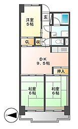 ビレッジハウス木場タワー[8階]の間取り