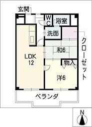 IKESHITAHILLS[6階]の間取り