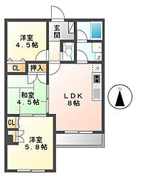 山田ビル[3階]の間取り