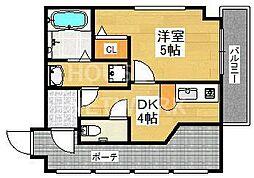 リーフジャルダン・レジデンスタワー[605号室号室]の間取り