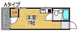 コーポパークサイド[4階]の間取り