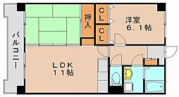 グレイスフルマンション箱崎東[8階]の間取り