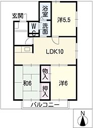 エスポアールMIDA B棟[2階]の間取り
