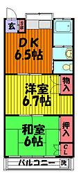 浅井コーポ[203号室]の間取り