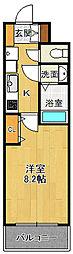 パークフラッツ尼崎 15階1Kの間取り