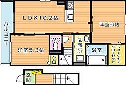 コンフォートライフ別所[2階]の間取り
