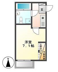 クラレーザ[2階]の間取り