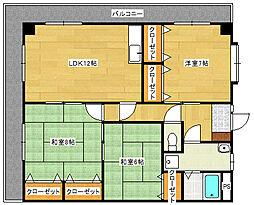 シャトー広本[2階]の間取り