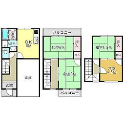 [テラスハウス] 奈良県大和高田市大字池尻 の賃貸【/】の間取り