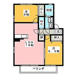 マロンベルA棟[2階]の間取り