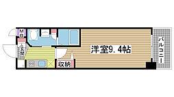 エステムコート神戸ハーバーランド前Ⅳベイライト[10階]の間取り
