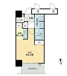 ベルファース大阪新町[10階]の間取り