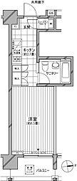 カスタリア麻布十番七面坂[8階]の間取り