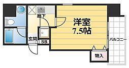 エルミタージュ福島[301号室]の間取り