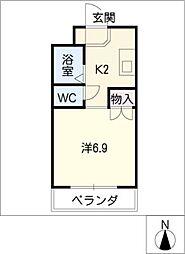パークサイド江向[2階]の間取り