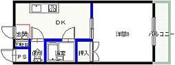 シャンクレール小桜[102号室号室]の間取り