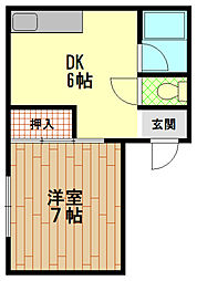 マンション松村[5階]の間取り