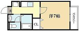 京都府京都市北区衣笠馬場町の賃貸アパートの間取り